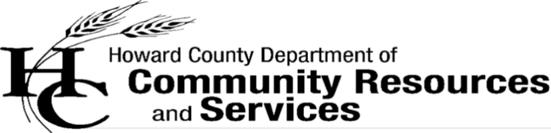 Sponsor Howard County Community Resources